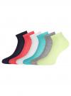 Комплект ажурных носков (6 пар) oodji для женщины (разноцветный), 57102709T6/48022/2 - вид 2