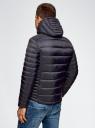 Куртка базовая с капюшоном oodji #SECTION_NAME# (синий), 1B112008M/25278N/7900N - вид 3