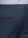 Брюки slim базовые oodji для мужчины (синий), 2B210024M/48898N/7900O