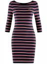 Платье трикотажное в полоску oodji для женщины (синий), 14001071-10/46148/7945S