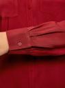 Блузка базовая из вискозы oodji для женщины (красный), 11400355-3/26346/3100N