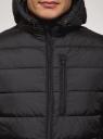 Куртка стеганая с капюшоном oodji #SECTION_NAME# (черный), 1B112027M/33743/2900N - вид 4