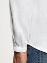 Рубашка льняная без воротника oodji для мужчины (белый), 3B320002M/21155N/1000N