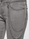 Джинсы skinny с молниями по низу oodji #SECTION_NAME# (серый), 12106143/46920/2300W - вид 5