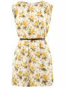 Платье вискозное без рукавов oodji #SECTION_NAME# (желтый), 11910073B/26346/5052F