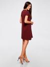 Платье А-образного силуэта в рубчик oodji #SECTION_NAME# (красный), 14000157/45997/4900N - вид 3