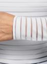Лонгслив трикотажный прямого силуэта oodji для женщины (белый), 14201046-1/33520/1000N