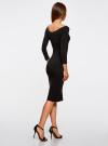 Комплект платьев с вырезом-лодочкой (3 штуки) oodji #SECTION_NAME# (черный), 14017001T3/47420/2900N - вид 3