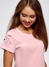 Пижама хлопковая с принтом oodji для женщины (розовый), 56002201-6/46154/4100P - вид 4