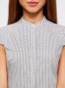 Рубашка с коротким рукавом из хлопка oodji #SECTION_NAME# (белый), 11403196-3/26357/1079G - вид 4