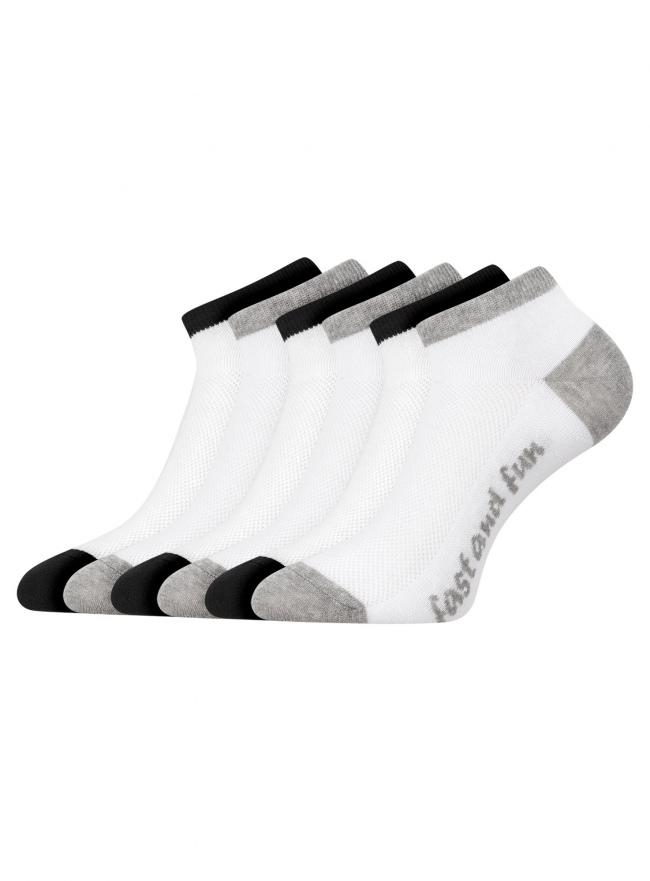 Комплект укороченных носков (6 пар) oodji для женщины (разноцветный), 57102605T6/48022/15