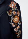 Рубашка хлопковая с вышивкой oodji #SECTION_NAME# (синий), 13L05001/13175N/7900N - вид 5