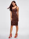 Платье-майка трикотажное oodji #SECTION_NAME# (черный), 14015007-3B/37809/2945E - вид 6