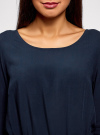 Платье вискозное с рукавом 3/4 oodji #SECTION_NAME# (синий), 11901153-1B/42540/7900N - вид 4