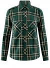 Рубашка в клетку с нагрудными карманами oodji #SECTION_NAME# (зеленый), 11411052-2/45624/6912C