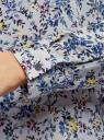 Блузка прямого силуэта с отложным воротником oodji #SECTION_NAME# (синий), 11411181/43414/7050F - вид 5
