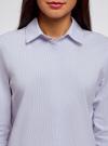 Рубашка свободного силуэта с удлиненной спинкой oodji #SECTION_NAME# (синий), 13K11002B/45387/1070S - вид 4