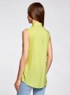 Топ вискозный с нагрудным карманом oodji для женщины (зеленый), 11411108B/26346/6A00N - вид 3