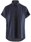 Блузка вискозная свободного силуэта oodji #SECTION_NAME# (синий), 11405139/24681/7910D