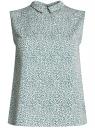 Блузка базовая без рукавов с воротником oodji #SECTION_NAME# (зеленый), 11411084B/43414/6210F