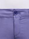 Брюки-чиносы хлопковые oodji #SECTION_NAME# (фиолетовый), 11706207B/32887/7502N - вид 5
