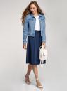 Куртка джинсовая базовая oodji для женщины (синий), 11109030-1/46785/7000W