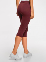 Бриджи трикотажные базовые oodji для женщины (красный), 18700055B/46159/4900N