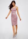 Платье-майка трикотажное oodji #SECTION_NAME# (розовый), 14015007-3B/37809/4123S - вид 6