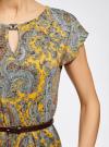 Платье трикотажное с ремнем oodji #SECTION_NAME# (желтый), 24008033-2/16300/5231E - вид 5