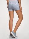Шорты джинсовые стретч с отворотами oodji #SECTION_NAME# (синий), 12807082B/45491/7000W - вид 3