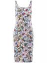 Платье-майка трикотажное oodji #SECTION_NAME# (разноцветный), 14015007-3B/37809/1241U