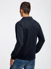 Жакет трикотажный с карманами oodji #SECTION_NAME# (синий), 5L912033M/47100N/7900N - вид 3