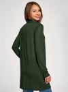 Кардиган легкий без застежки oodji для женщины (зеленый), 29201001/45723/6E29M - вид 3