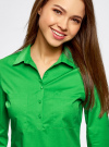 Рубашка базовая с нагрудными карманами oodji #SECTION_NAME# (зеленый), 11403222B/42468/6A00N - вид 4