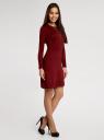 Платье с декоративной вставкой oodji для женщины (красный), 73912220/33506/4900N