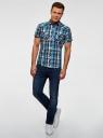 Рубашка клетчатая с нагрудными карманами oodji #SECTION_NAME# (синий), 3L410118M/34319N/796CC - вид 6