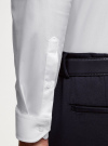 Рубашка базовая приталенная oodji для мужчины (белый), 3B140000M/34146N/1000N - вид 5