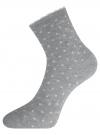 Комплект из трех пар хлопковых носков oodji #SECTION_NAME# (разноцветный), 57102807T3/47613/27
