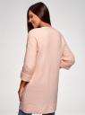 Кардиган без застежки с накладными карманами oodji #SECTION_NAME# (розовый), 63203131/48518/4000M - вид 3