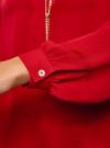 Блузка из струящейся ткани с металлическим украшением oodji #SECTION_NAME# (красный), 21414004/45906/4500N - вид 5