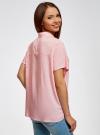 Блузка вискозная свободного силуэта oodji #SECTION_NAME# (розовый), 11405139/24681/4010D - вид 3