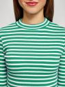 Джемпер в рубчик с рукавом 3/4 oodji для женщины (зеленый), 15E11003/45210/6D10S