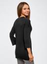 Кардиган без застежки с декоративными карманами oodji для женщины (черный), 73212397/24526/2900N