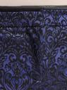 Брюки жаккардовые со стрелками oodji #SECTION_NAME# (синий), 21709006-1/38560/7529J - вид 4