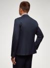 Пиджак базовый приталенный oodji #SECTION_NAME# (синий), 2B420026M/48330N/7900O - вид 3