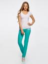 Комплект трикотажных брюк (2 пары) oodji #SECTION_NAME# (разноцветный), 16700045T2/46949/2 - вид 6