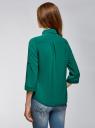 Блузка из струящейся ткани с нагрудными карманами oodji #SECTION_NAME# (зеленый), 11403225-6B/48853/6E02N - вид 3