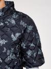 Куртка стеганая принтованная oodji #SECTION_NAME# (черный), 10207002-1/45419/2970F - вид 5
