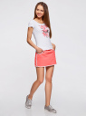 Комплект из двух юбок на эластичном поясе oodji для женщины (разноцветный), 14101098T2/46155/1