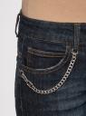 Джинсы клеш с цепочкой oodji для женщины (синий), 12102076/43324/7900W
